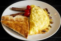 We have a full made to order breakfast menu with lactose, sugar-free and gluten-free options.