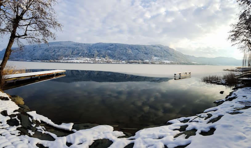 Dreaming at Ossiacher See with Skiing Area nearby