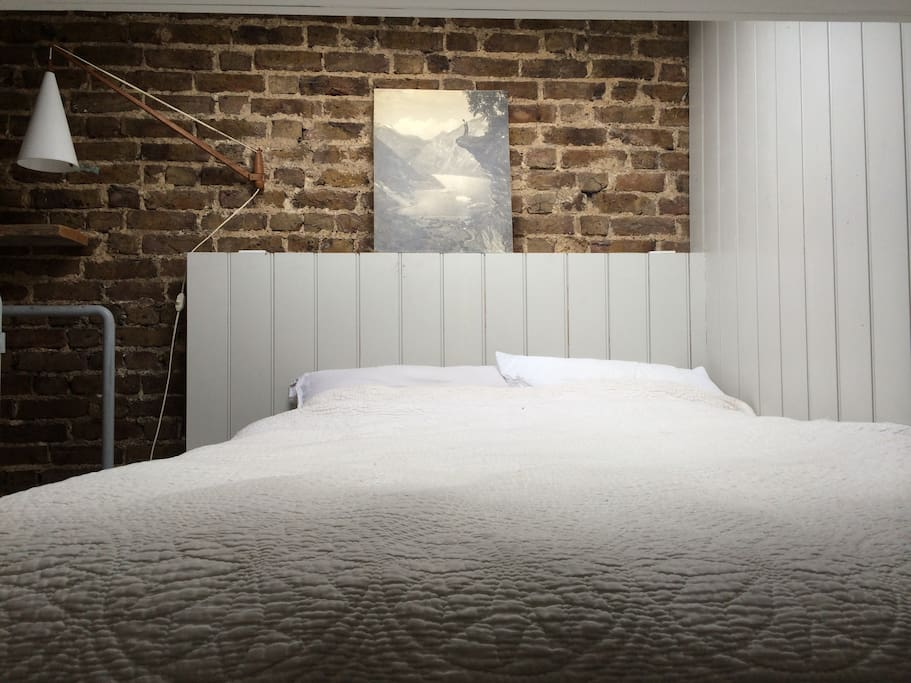 Your bed in the loft eaves