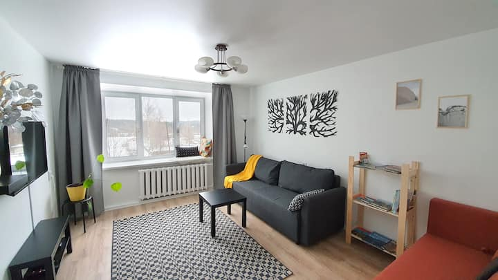 Стильная 2-х комнатная квартира рядом с Рускеала