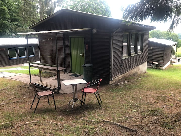 Stay at an authentic East German log cabin.
