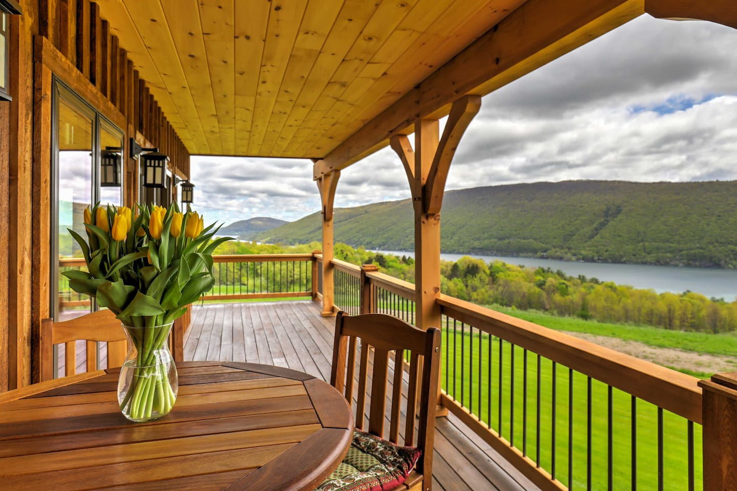 Look forward to lounging on the wrap-around deck overlooking Canandaigua Lake.