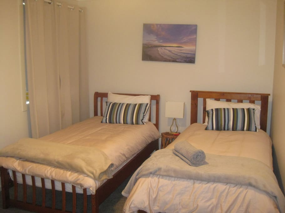 Bedroom 2 - cosy and warm & cool in summer.  Also port -o-cot if required for infants.