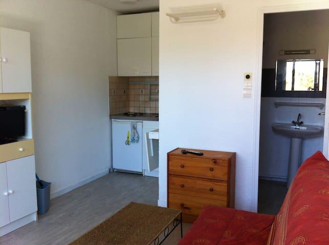 Agréable studette avec terrasse lit et mixe océan - Lit-et-Mixe - Apartamento