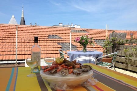 Unique in Biarritz, very near market and beaches - 比亚里茨 - 公寓