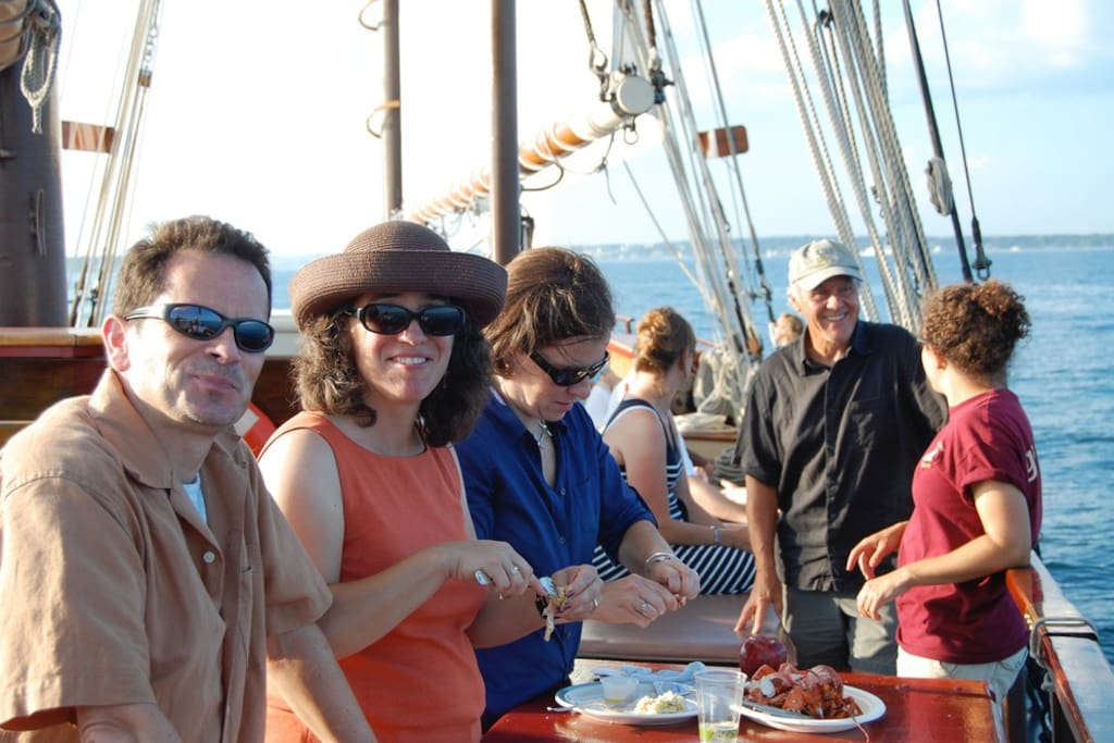Lobster dinner cruise 5-8pm before docking for the night