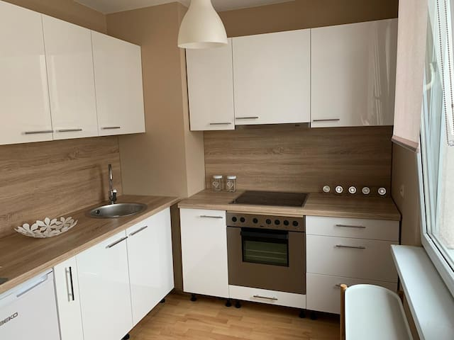 Spacious studio in the heart of Lodz stunning view
