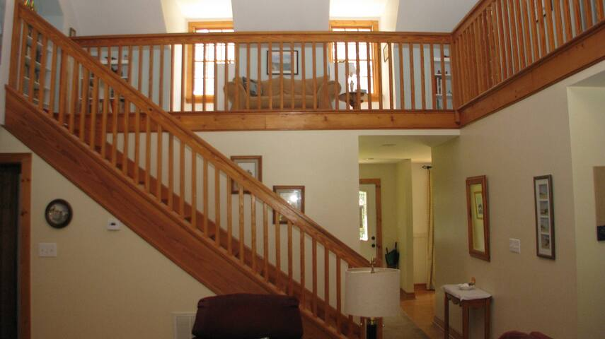 Stairs to your Private Room and Private Bath