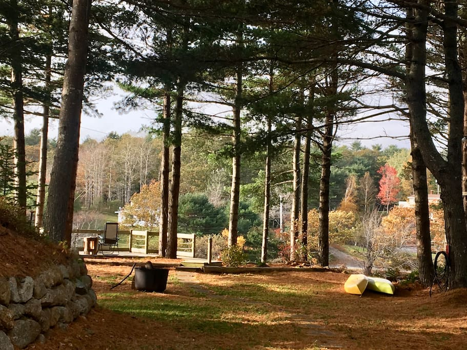 Enjoy the view, the kayaks, and the firepit. Fall is as nice as summer.
