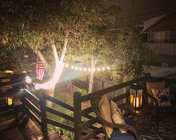 Even enjoy the nightly sounds of the ocean on your well- lit patio.