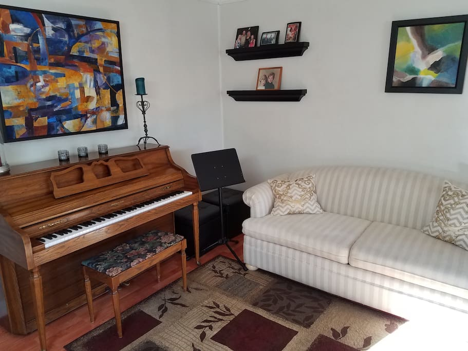 Music room - off living room with sofabed