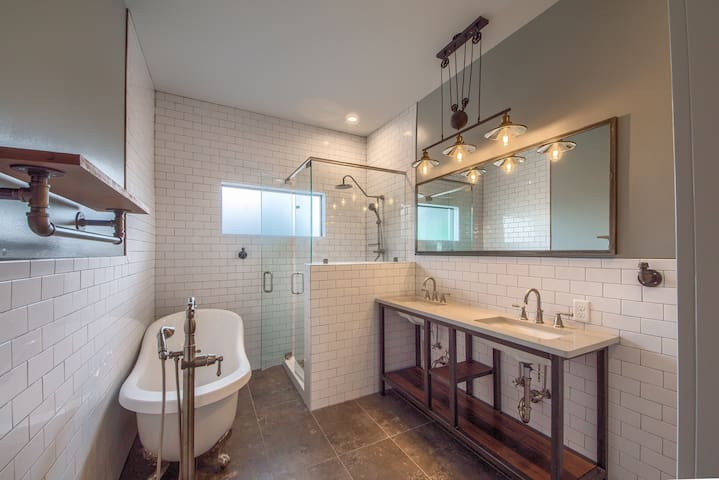 Have a relaxing soak or shower in this fully custom bathroom