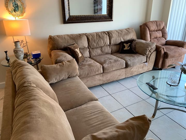 SLEEPING in LIVING ROOM With SOCIAL DISTANCE_$50