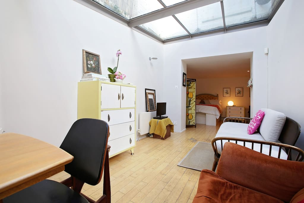 View of bedroom from communal space