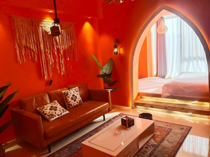 摩洛哥风格·城宿·近水木清华步行街·巨幕投影