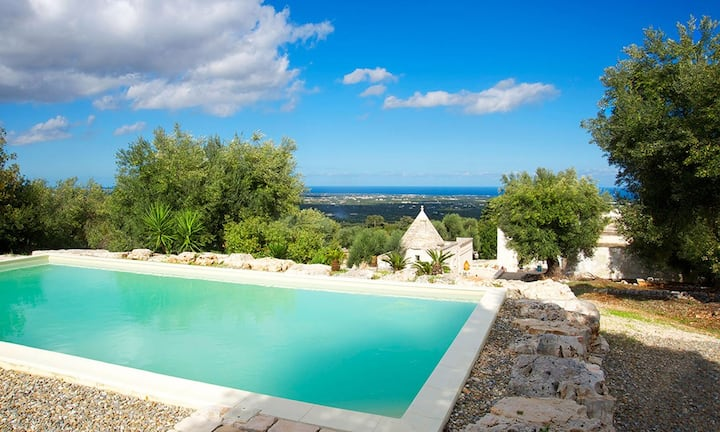 Trullo Le Carrozze - B&B Masseria Ulivi with pool