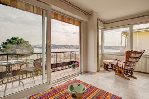 Beautiful Bosphorus flat with a unique view