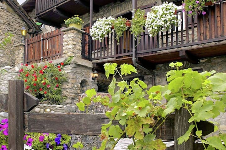 Magnificent apartment with private sauna in a historic village near Aosta