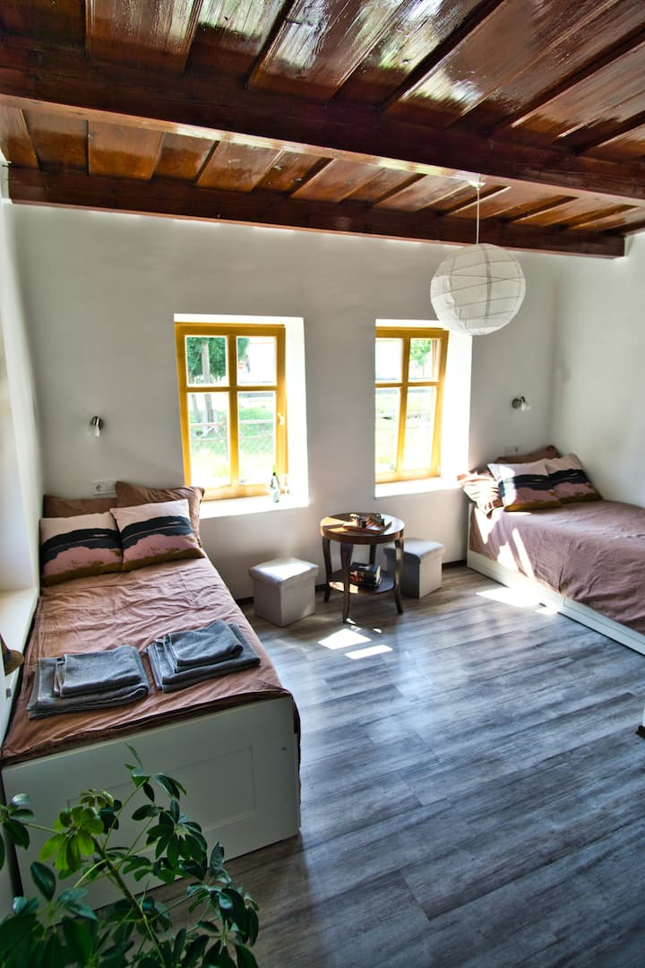 Gesztenye private bedroom at Borsika Napterasz