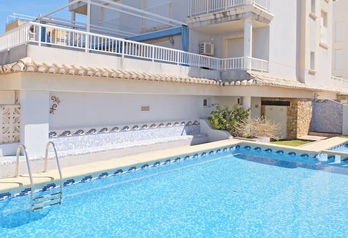 Apartamento en Playa de Oliva con Piscina.(WIFI)