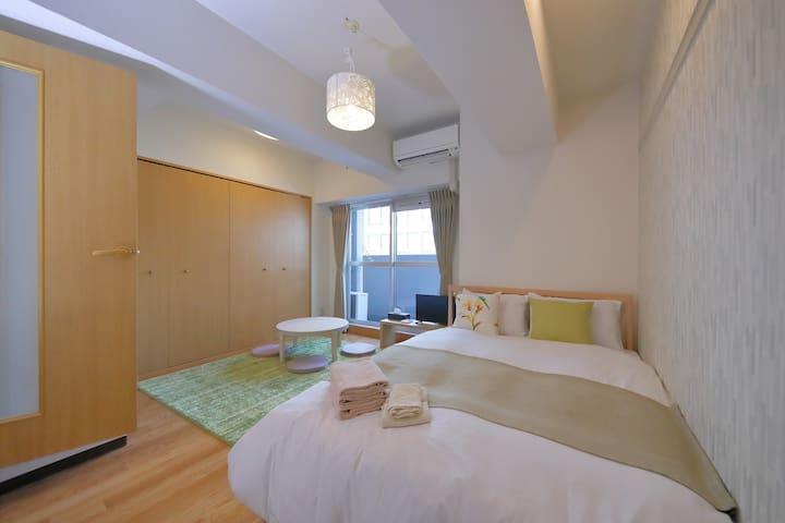 Designer's room★Easy access to Namba, Umeda, Kyoto