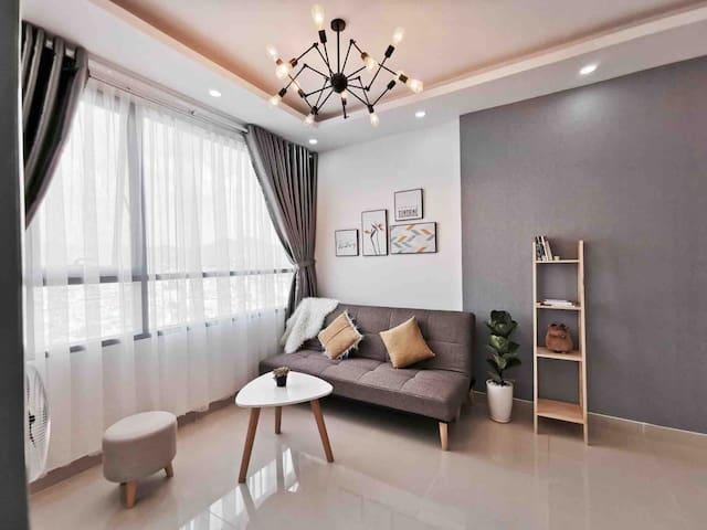 Finn &Angie Home: 2BR, 75m2, brand-new modern aprt