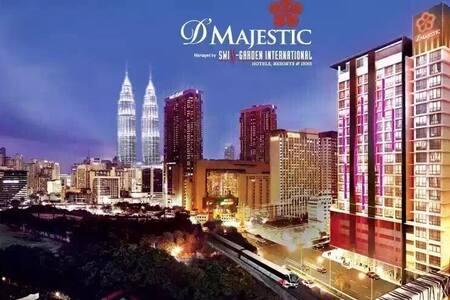 一流地点、交通方便、舒适环境、齐全设备、露天泳池面对双峰塔、迷人夜景 - Kuala Lumpur - Wohnung