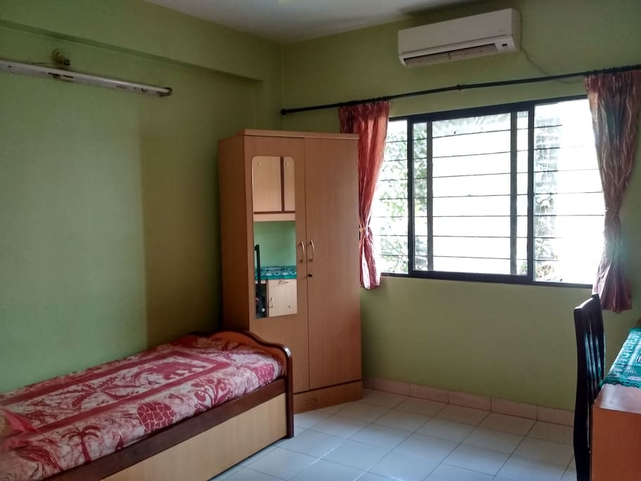 Room View with a Single Bed