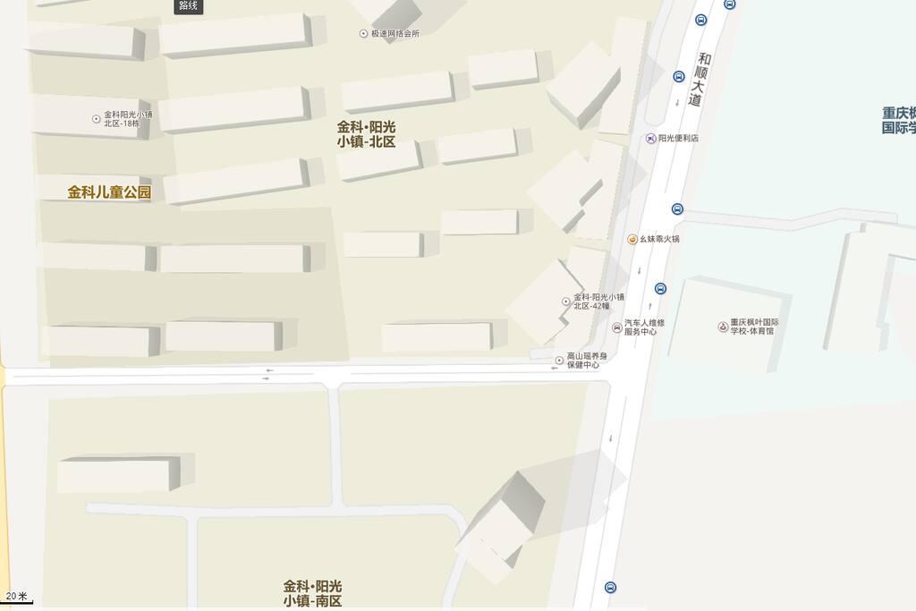 附近有公共交通,102路公交,丁家-永川 均停靠金科阳光小镇,高速下来从打车10元即可到达