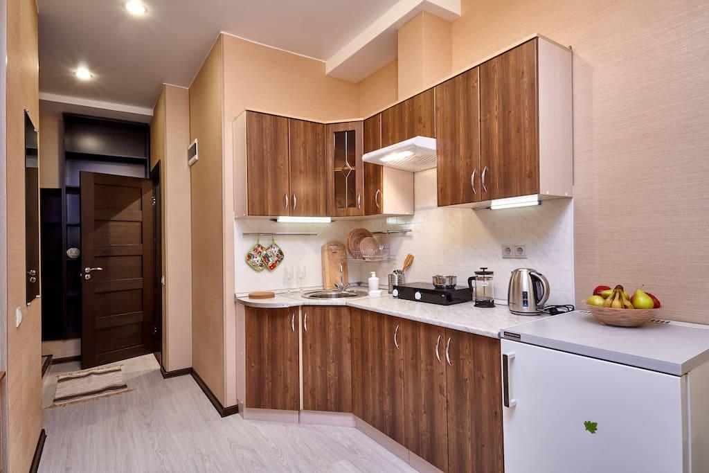 Полностью оборудованная кухня