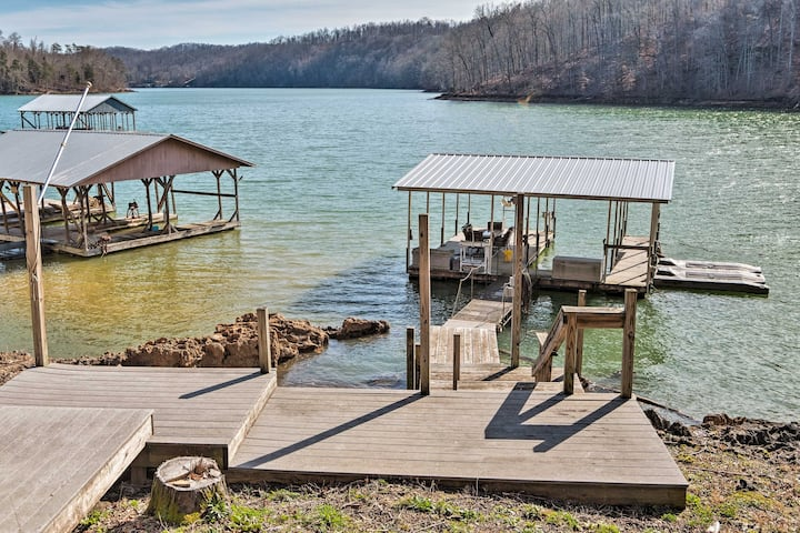 NEW! Norris Lake Home w/ Dock & Waterfront Dining!