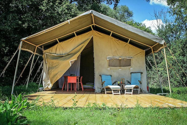 Tente chaleureuse au coeur de la Brenne - Paulnay - Tenda de campanya