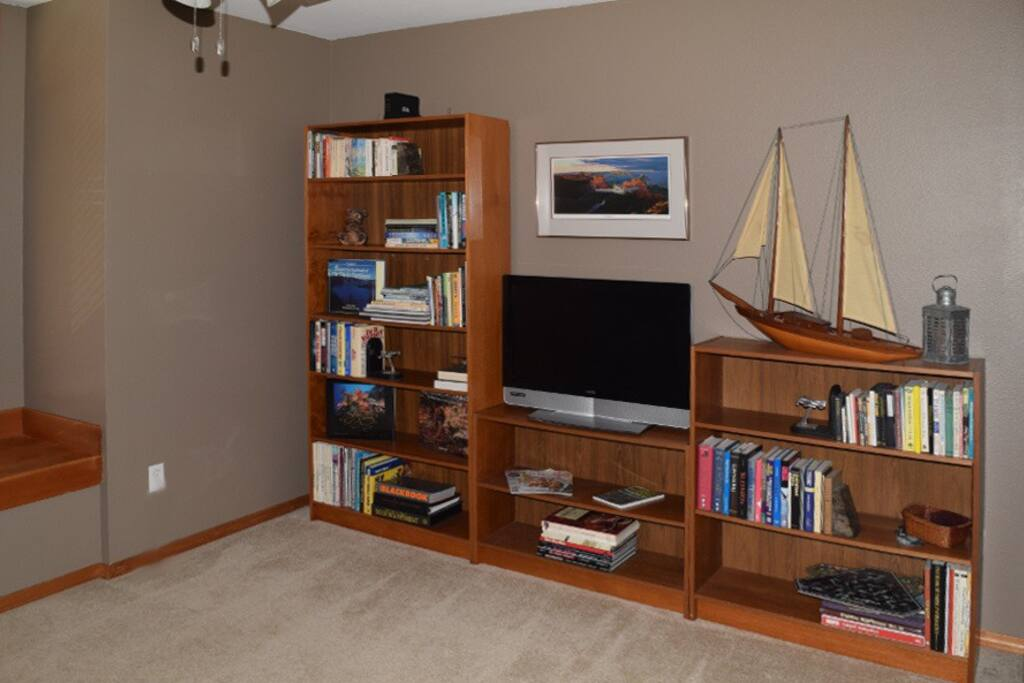 Sitting Room with Dish Satellite Television