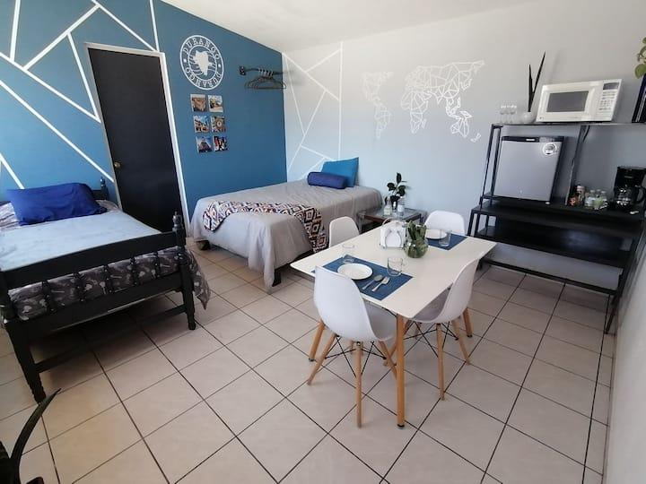 Bonita y amplia suite, con inigualable ubicación