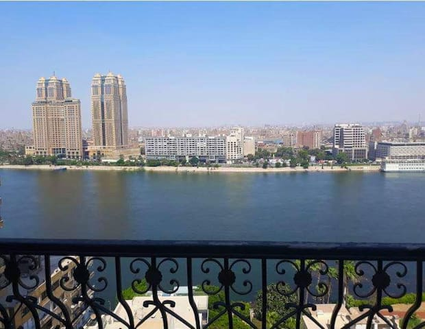 flat on the Nile at Zamalek Cairo Egypt