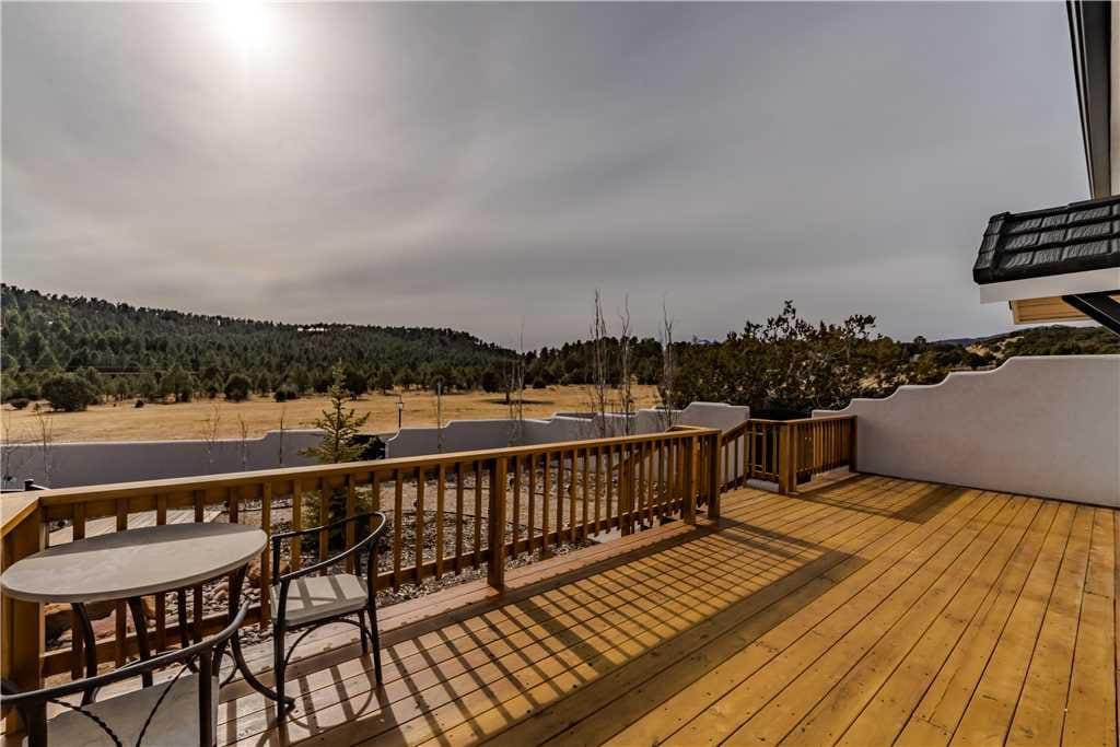 The beautiful deck, complete with nature and mountain views, is an all-time favorite!