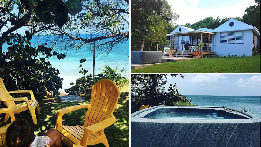 Aguayo by the Sea - Beach front Villa in Vieques