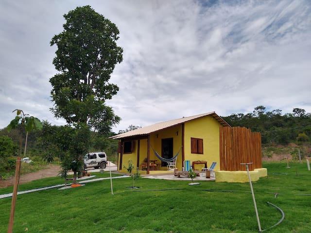 Chalé amarelo da Villa do Morro, so tranquilidade