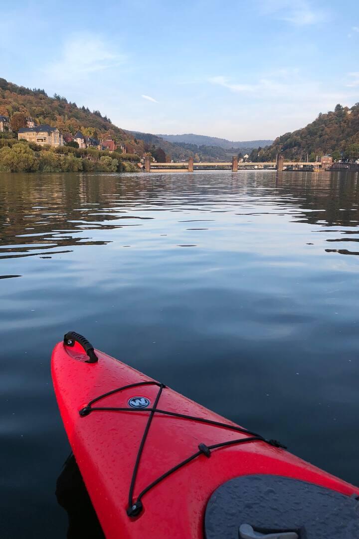 Trip auf dem Fluss Neckar