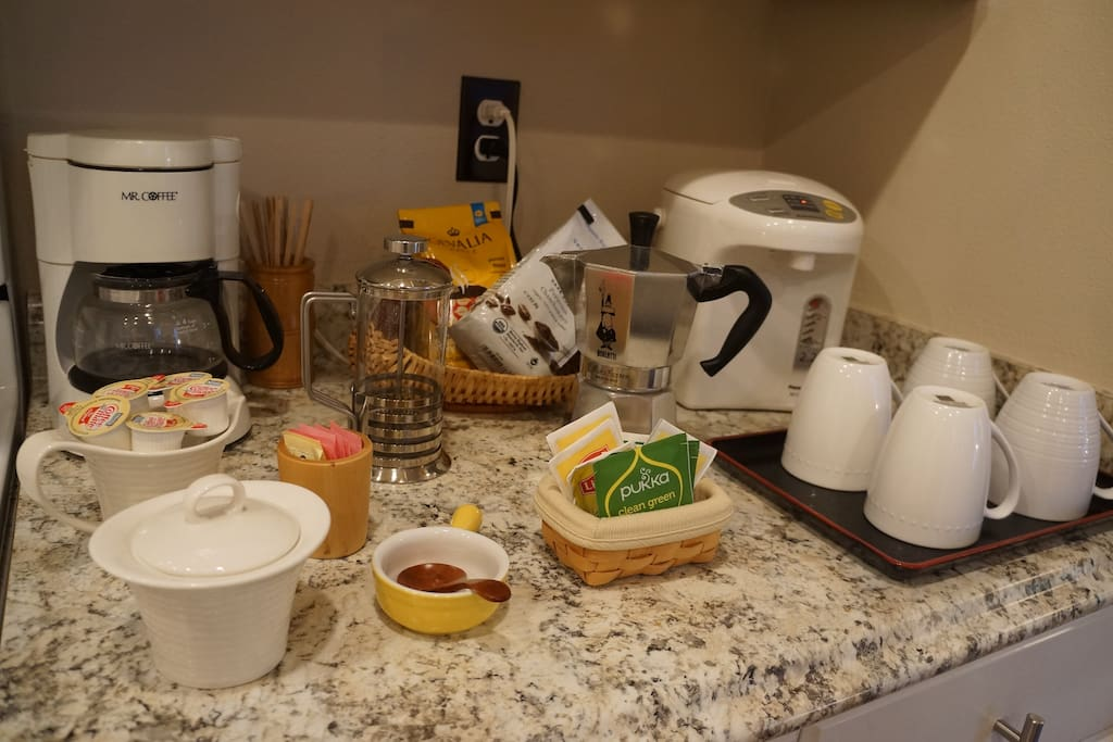 Tea and coffee are provided