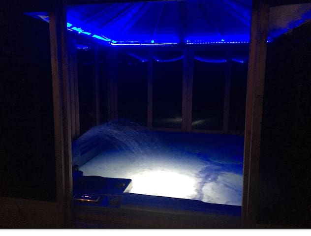 LED lights at night