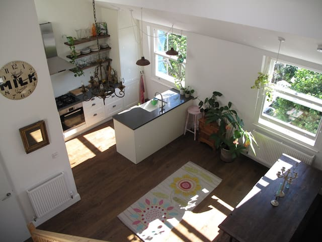 The open plan kitchen is open for all to use.