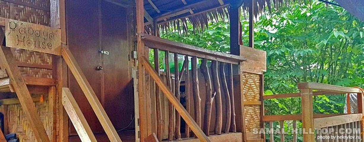 Private veranda with kitchenpr