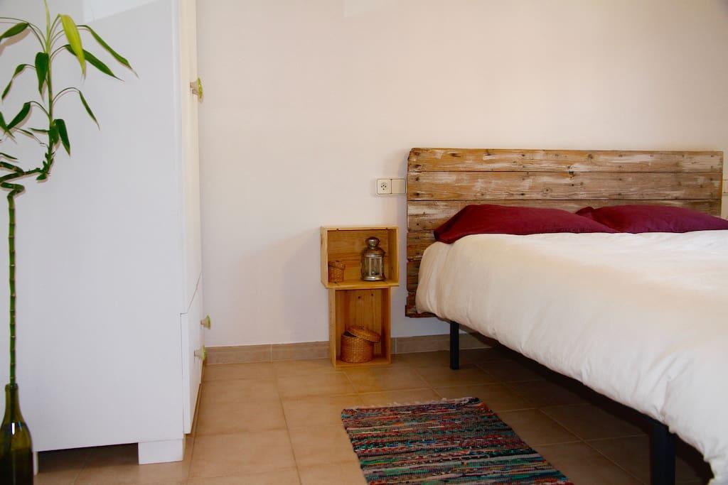 Preciosa habitación con cama de 1,50cm