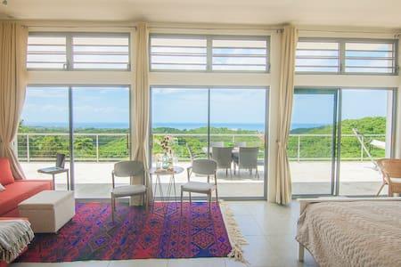 Breathtaking hilltop studio with pool, ocean view - Rincón