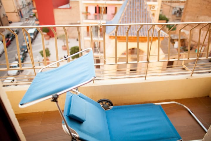 Relax on the balcony, the location is calm