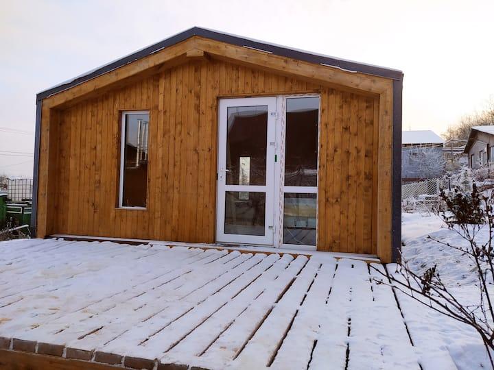 Уютный дом Барн Хаус с банькой и мангалом