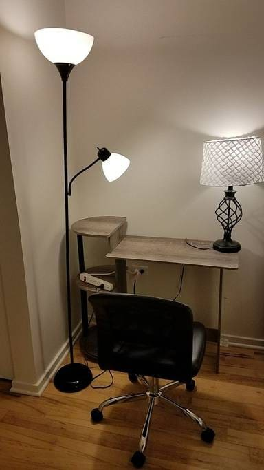 Laptop Desk, Chair and Lamp