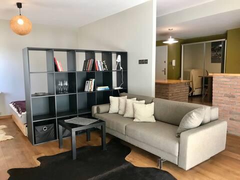 Pet friendly apartment with a big garden & terrace