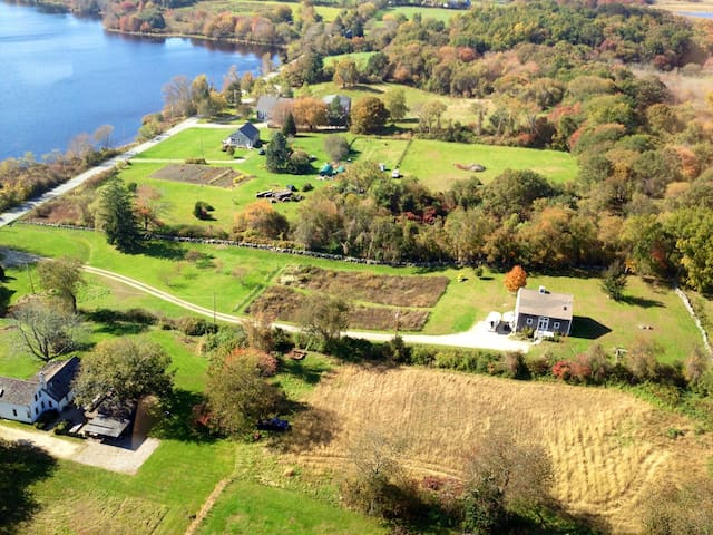 Three acre farm house with water view